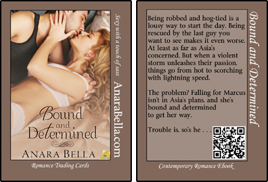 Bound and Determined Romance Trading Card